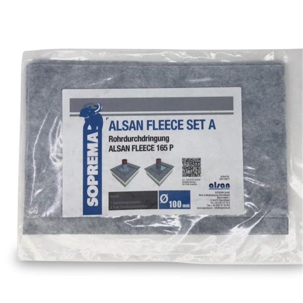 ALSAN QUADRO Vlies | 165 P | Set A für Rohrdurchdringungen 100 mm