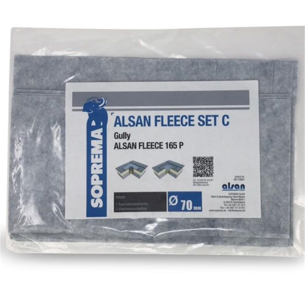 ALSAN QUADRO Vlies   165 P   Set C für Gully 70 mm